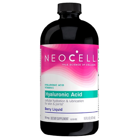 NeoCell Laboratories Hyaluronic Acid Blueberry Liquid 16 Oz